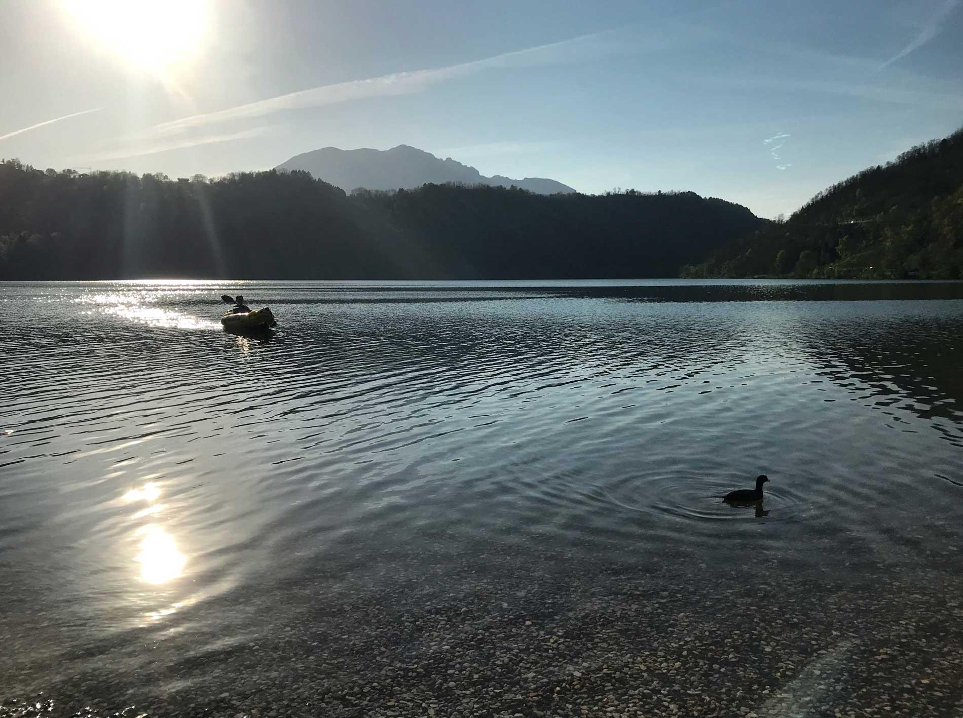 Levico-Terme-Valsugana-Lago-folaga-kayak