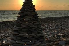 tramonto-nella-spiaggia-della-roccia-di-venere