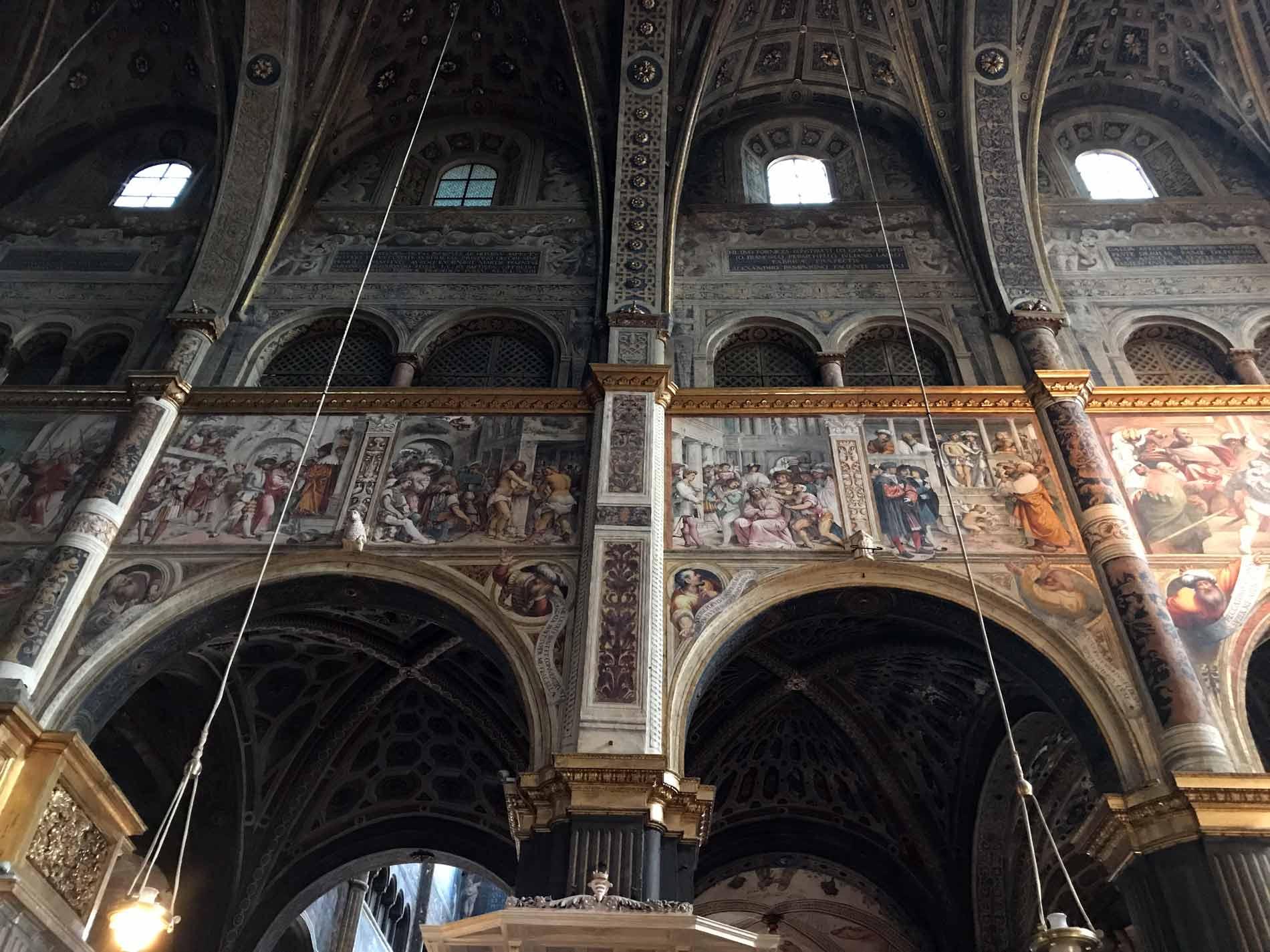 Cattedrale-di-Cremona-affreschi-navata-centrale-vita-della-vergine-e-cristo-romanino-boccaccino-bembo-pordenone