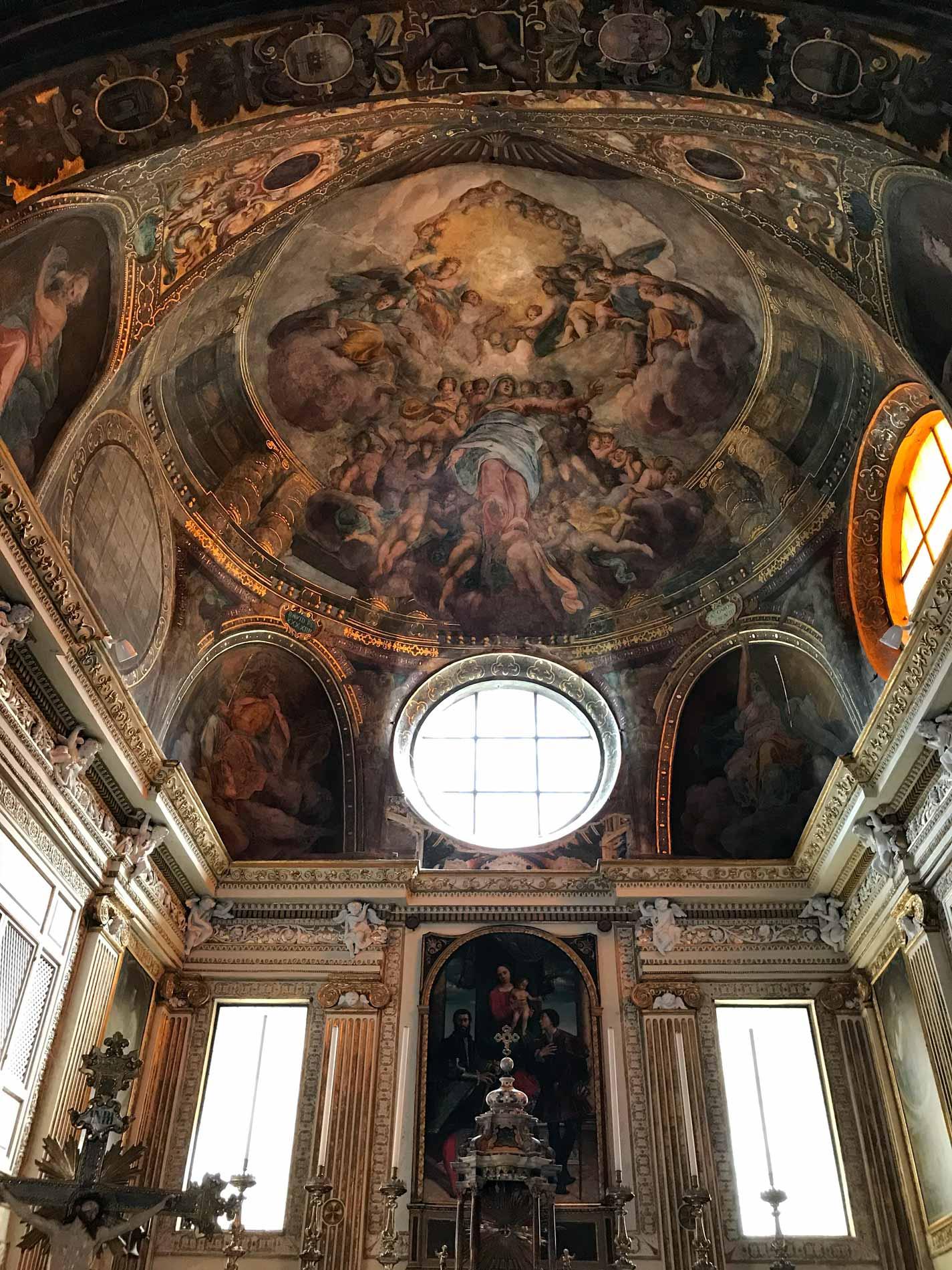 Chiesa-di-SantAbbondio-Cremona-cupola-affrescata-manierismo-Assunzione-della-Vergine-Giulio-Campi