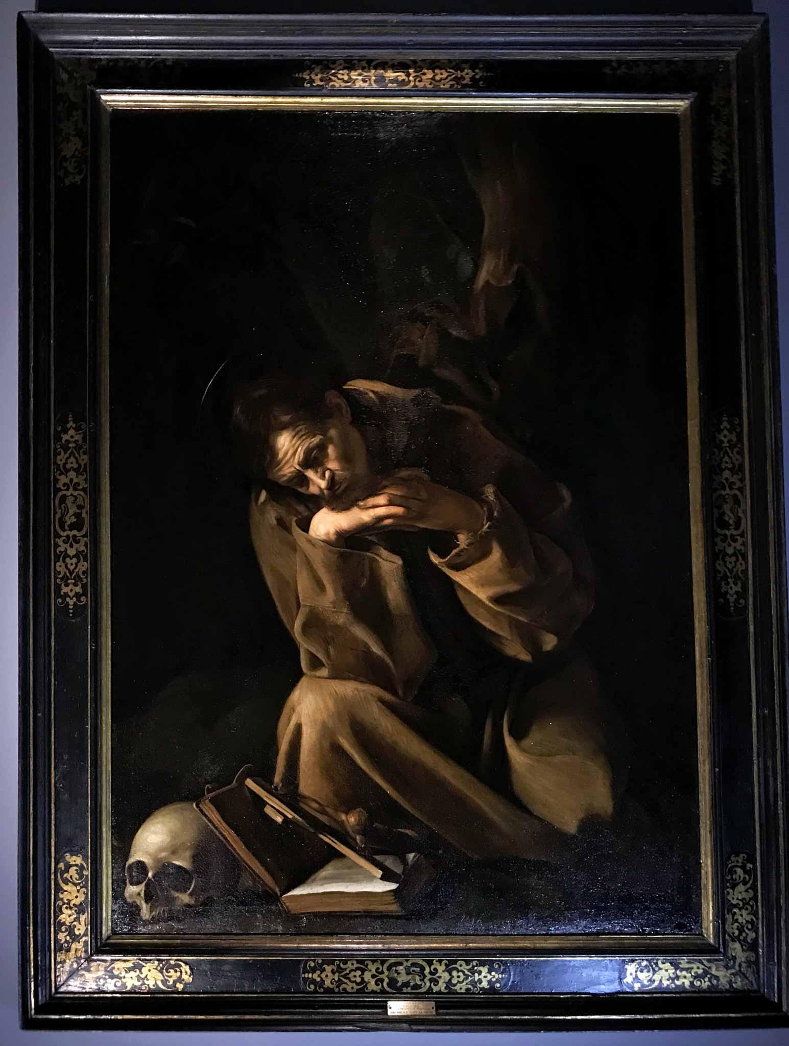 san-francesco-in-meditazione-caravaggio-Museo-civico-ala-ponzone-cremona