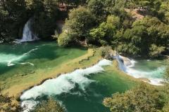 parco-krka-vista-dallalto-delle-acque-e-cascate