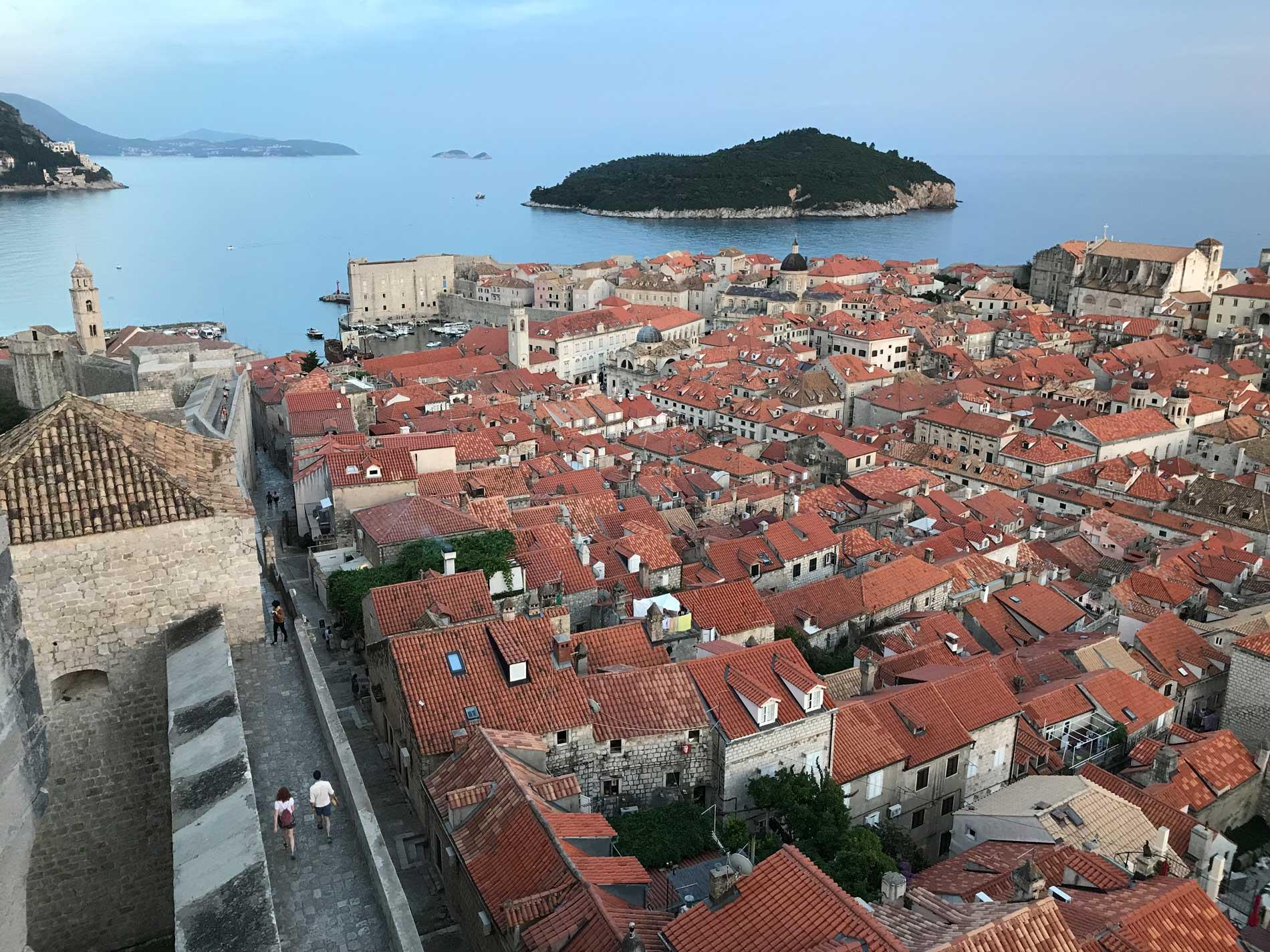 Dubrovnik-Croazia-panorama-Torre-Minceta-tour-delle-mura
