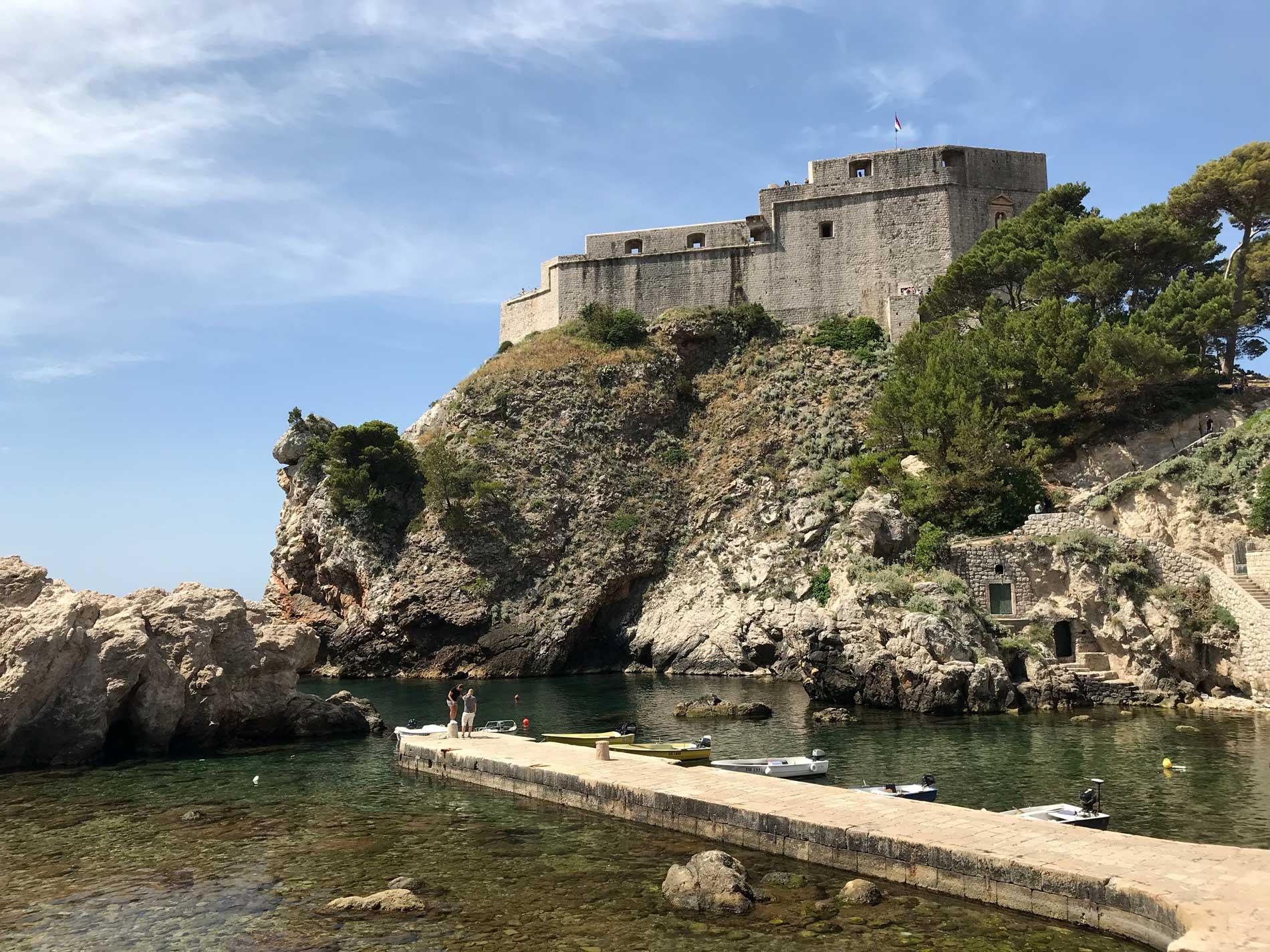 Dubrovnik-Croazia-Forte-Lovrijanec-baia-delle-acque-nere