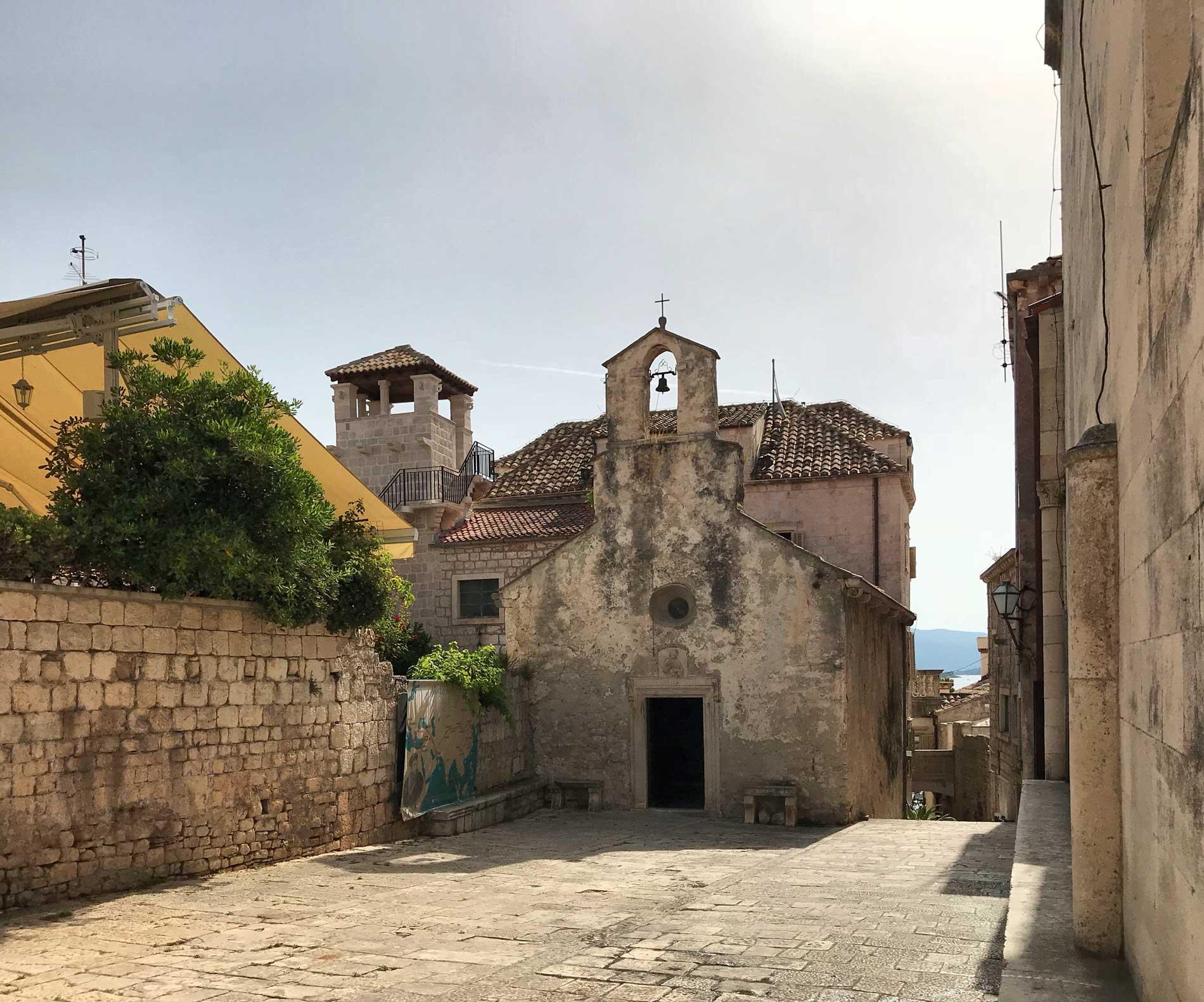 Korcula-Croazia-chiesa-di-San-Pietro