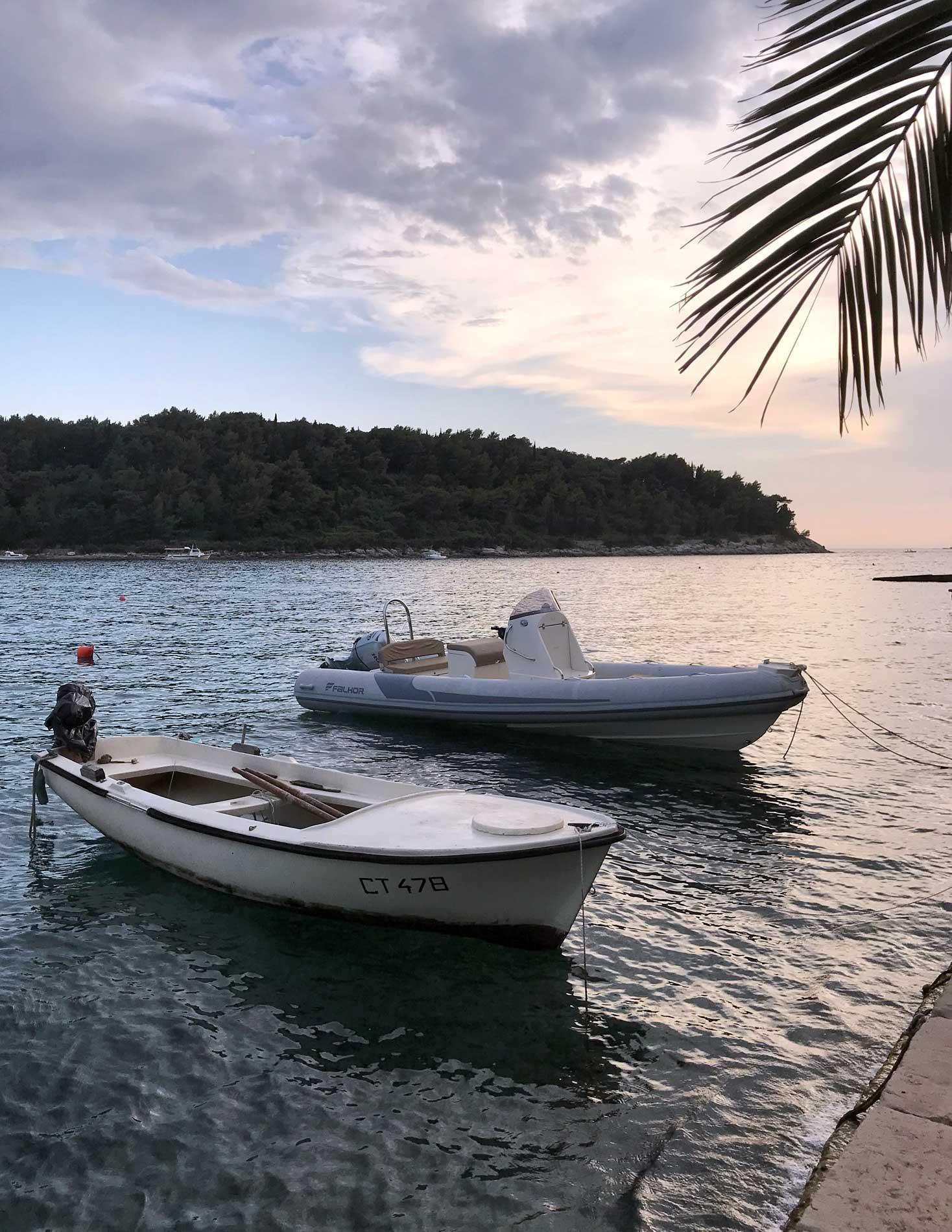 Cavtat-Dubrovnik-Croazia-barche-mare-palma