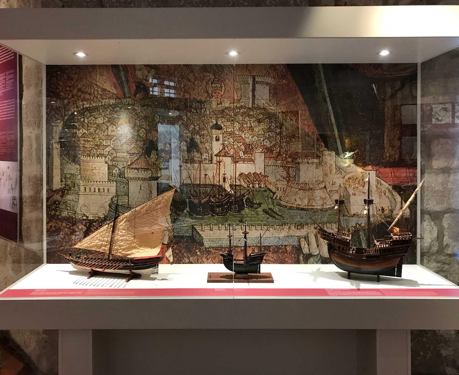 Museo-del-mare-modelli-di-navi-Dubrovnik-Croazia