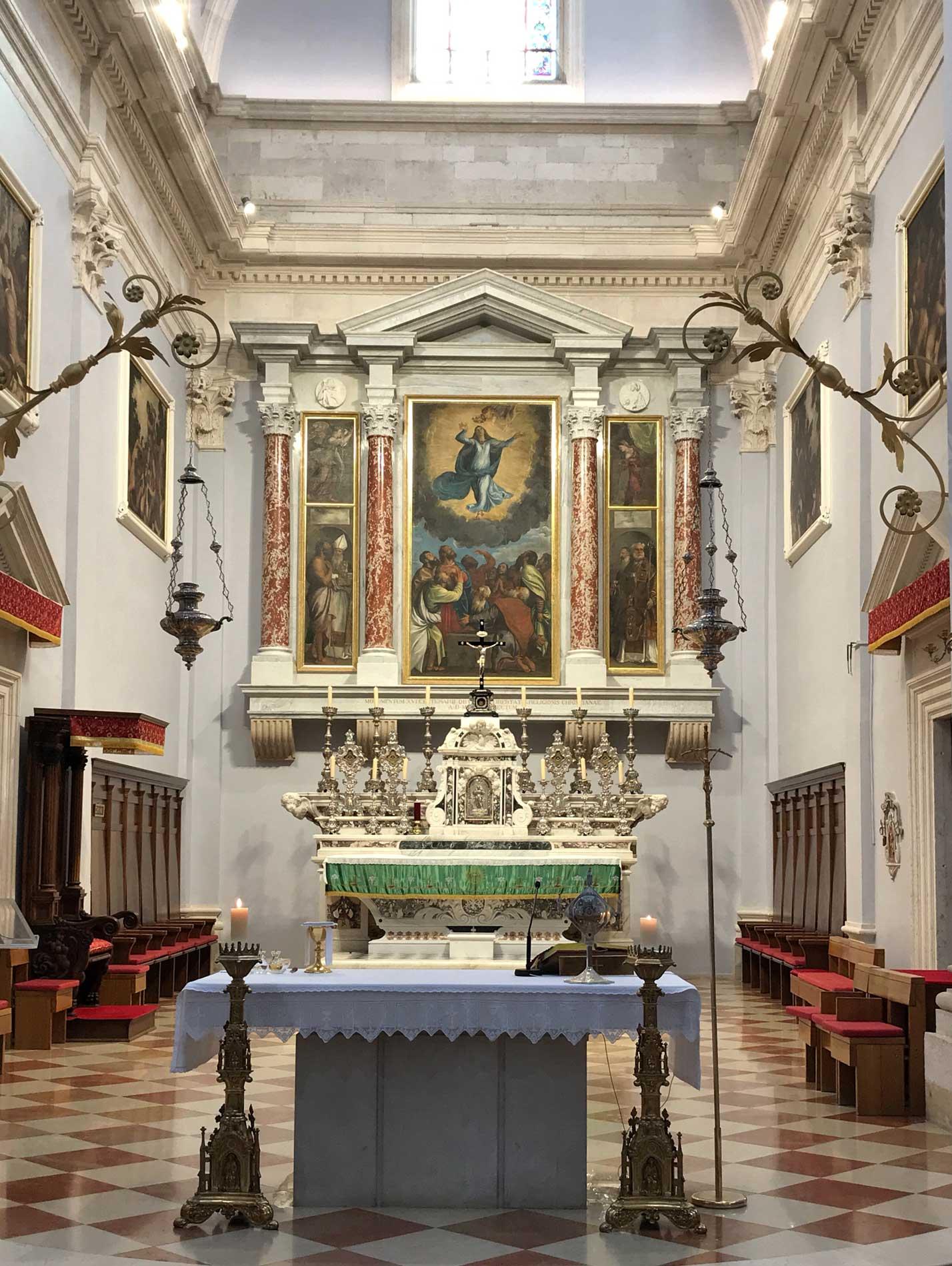 Dubrovnik-Croazia-Cattedrale-interno-quadro-Assunta-Tiziano