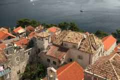 Panorama-dal-Campanile-chiesa-San-Marco-Korcula-Croazia-tetti-Casa-di-Marco-Polo
