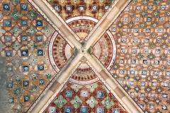 Rocca-di-Angera-famiglia-Borromeo-sala-della-Giustizia-affreschi-geometrici-volta
