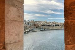 Senglea-Malta-Tre-Città-Gardjola-gardens-panorama-mare-La-Valletta