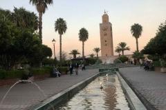 giardini-della-koutoubia-marrakech-marocco-minareto-acqua-palme-tramonto