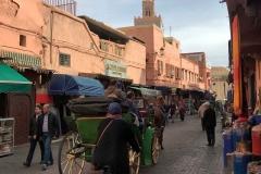 Kasbah-Marrakech-marocco-via-carrozza-bicicletta-passanti