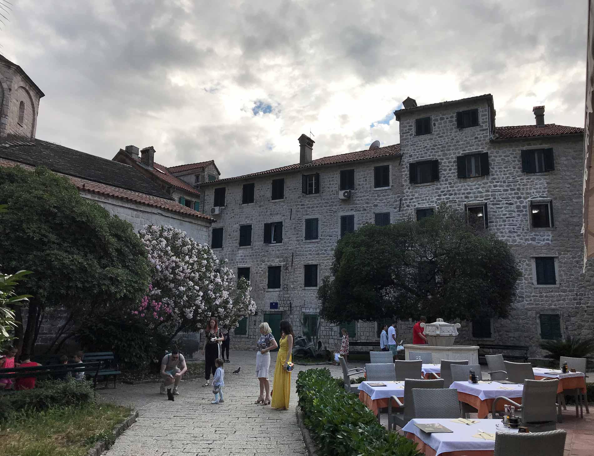 Kotor-Montenegro-Pjaca-Od-Drva-olenadri-persone-gatti-randagi