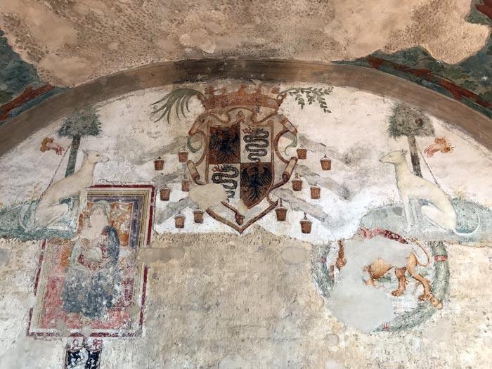 rocca-di-soncino-affreschi-rinascimentali-con-stemma-degli-sforza