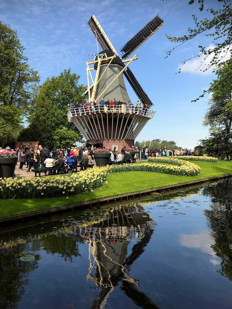 parco-keukenhof-lisse-olanda-mulino-a-vento-riflesso-nel-canale